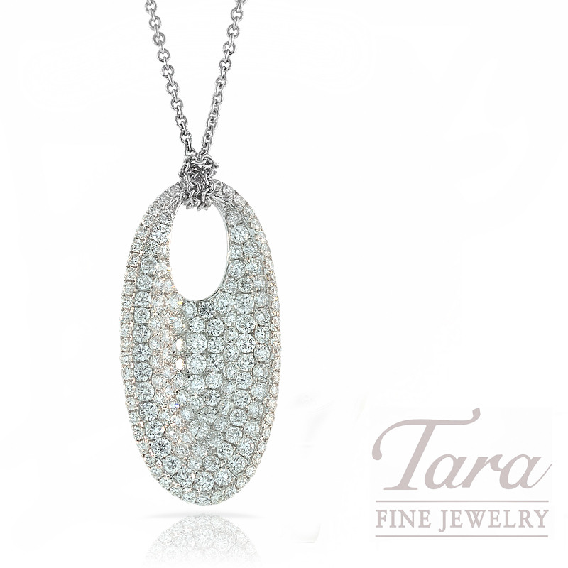 "Roberto Coin Diamond Pendant in 18K White Gold, 1.90ctw, ""Fantasia Collection"""