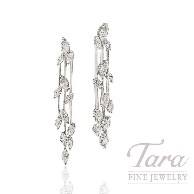 Simon G. Diamond Earrings in 18K White Gold,  2.16TDW
