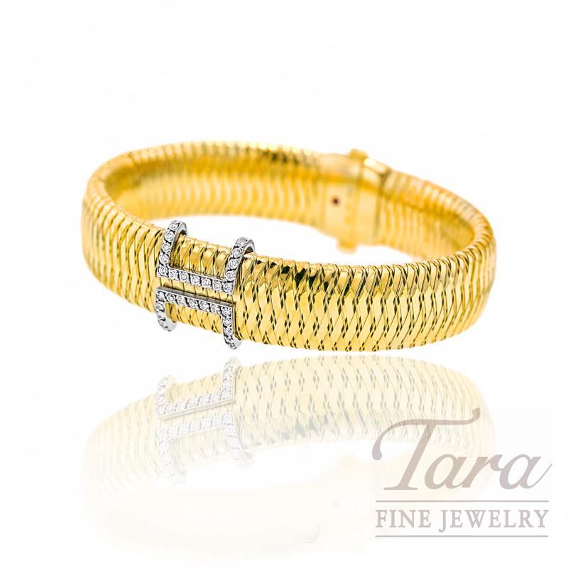 "Roberto Coin Diamond Bracelet in 18k Yellow Gold, .45tdw, ""Primavera Collection"""