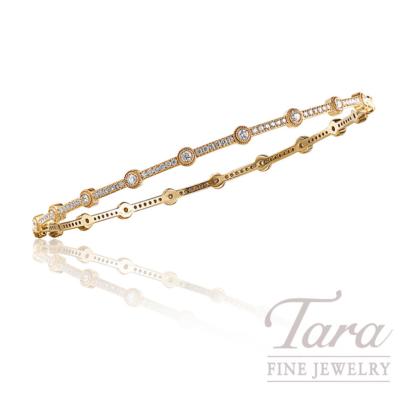 Norman Covan Diamond Bangle in 18K Yellow Gold, 1.00 CT TW
