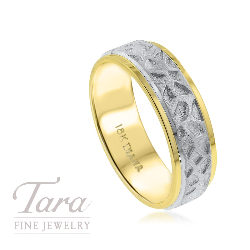 Men's 18K Two Tone Wedding Band