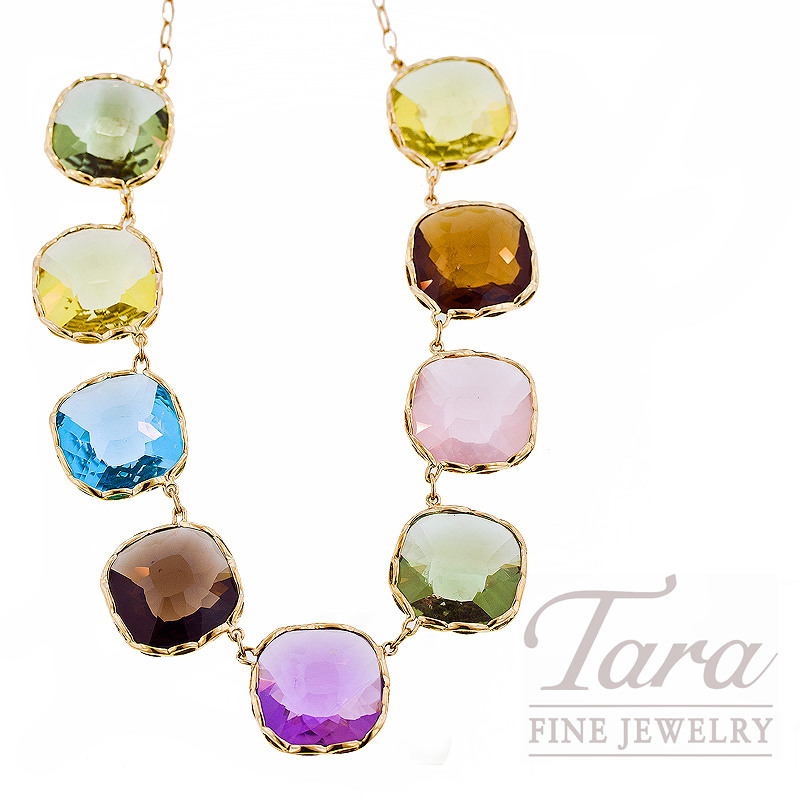 "Roberto Coin Gemstone Necklace in 18kt Yellow Gold, 93.0ct tgw, ""Impanema Collection"""