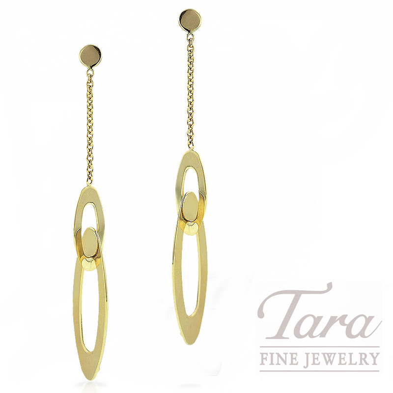 "Roberto Coin Drop Earrings in 18K Yellow Gold, ""Chic and Shine Collection"""