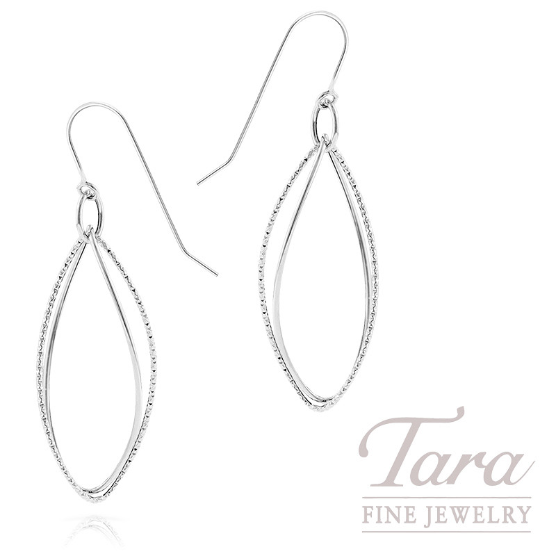 Hoop Earrings in 14K White Gold, 1.5 Grams