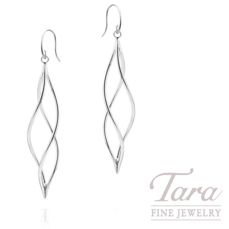 Fashion Earrings in 14k White Gold, 1.5 Grams