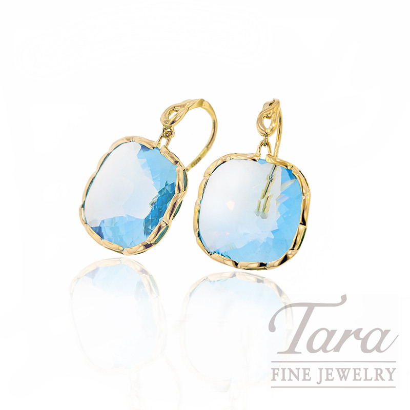 Roberto Coin Blue Topaz Earrings 61ct tgw