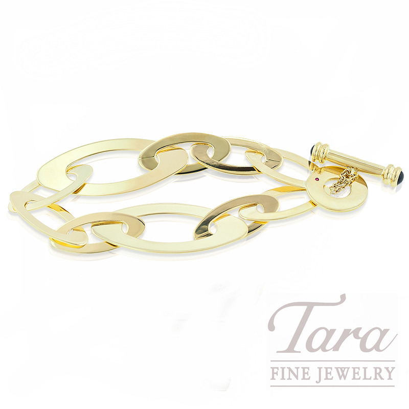 "Roberto Coin Link Brackelet in 18K Yellow Gold, ""Chic & Shine Collection"""