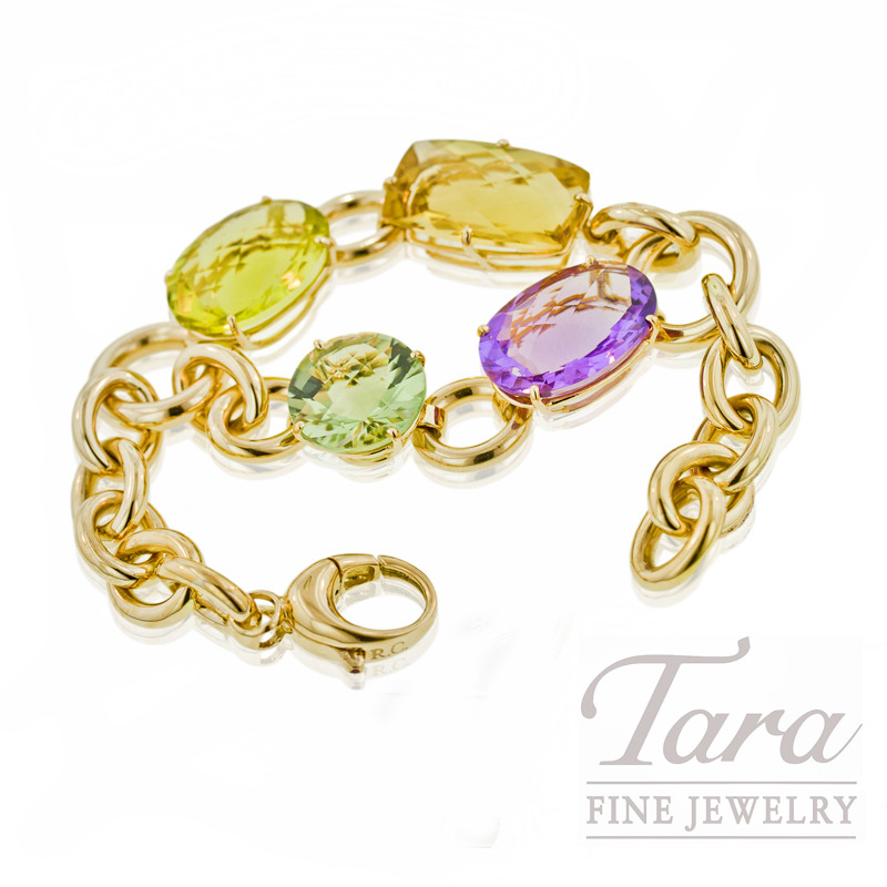 "Roberto Coin Gemstone Bracelet in 18K Yellow Gold, ""Ipanema Collection"""