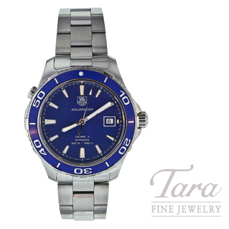 Tag Heuer Watch 41mm Aquaracer 500M Blue