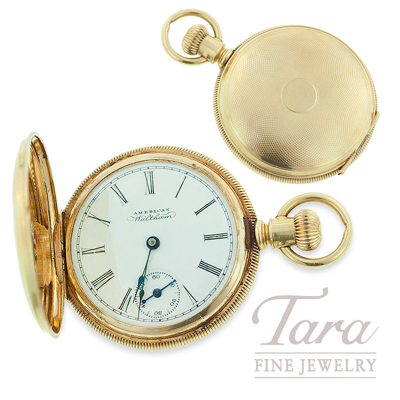 ce5580d279fb8 14k Yellow Gold Pocket Watch by American Waltham