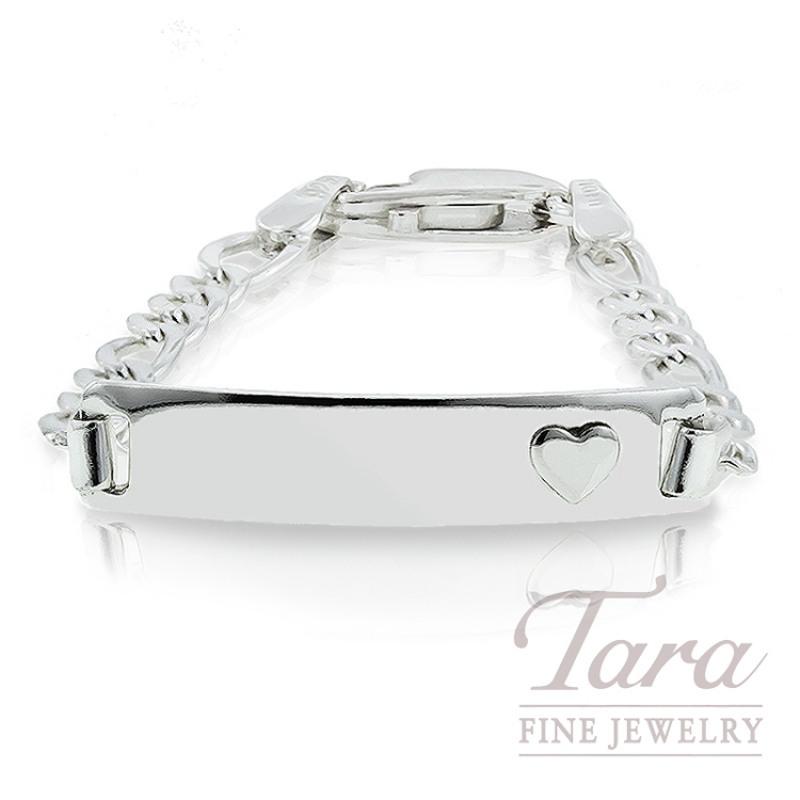 """Sterling Silver Baby ID Bracelet,  5 1/2"""""""