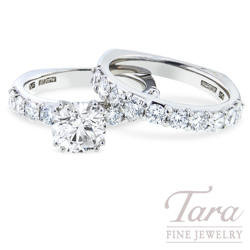 A. Jaffe Platinum Diamond Wedding Ring Set, 1.80 TDW