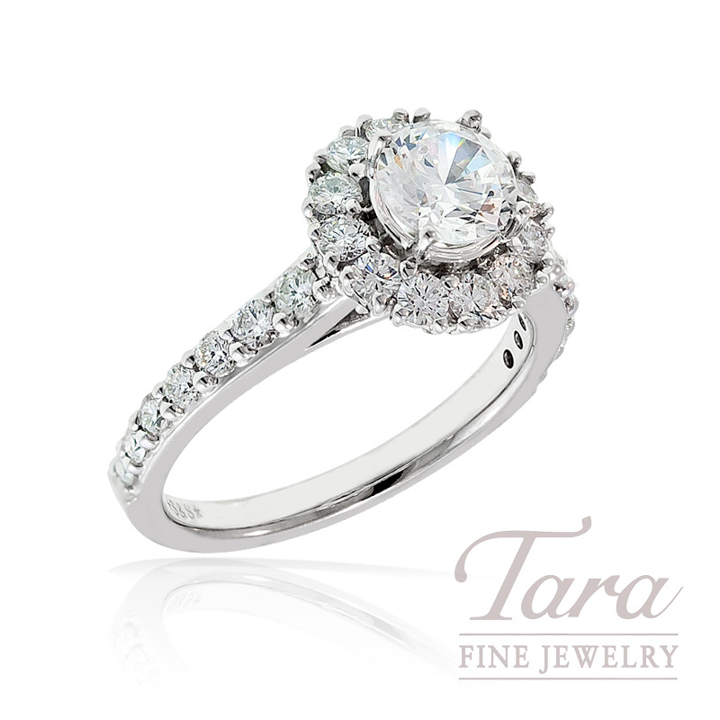 Diamond Engagement Ring by A. Jaffe, .80TDW 18K White Gold (Center Stone Sold Separately)