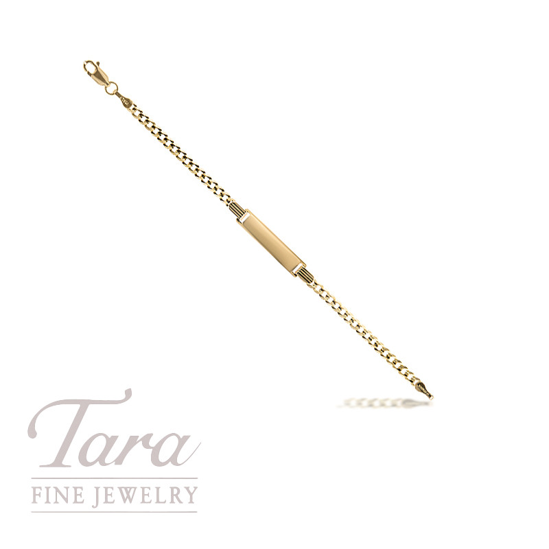 Baby ID Bracelet in 14K Yellow Gold 5.5""
