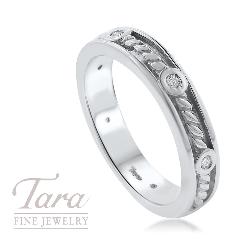 Diamond Band in 18K White Gold .12TDW