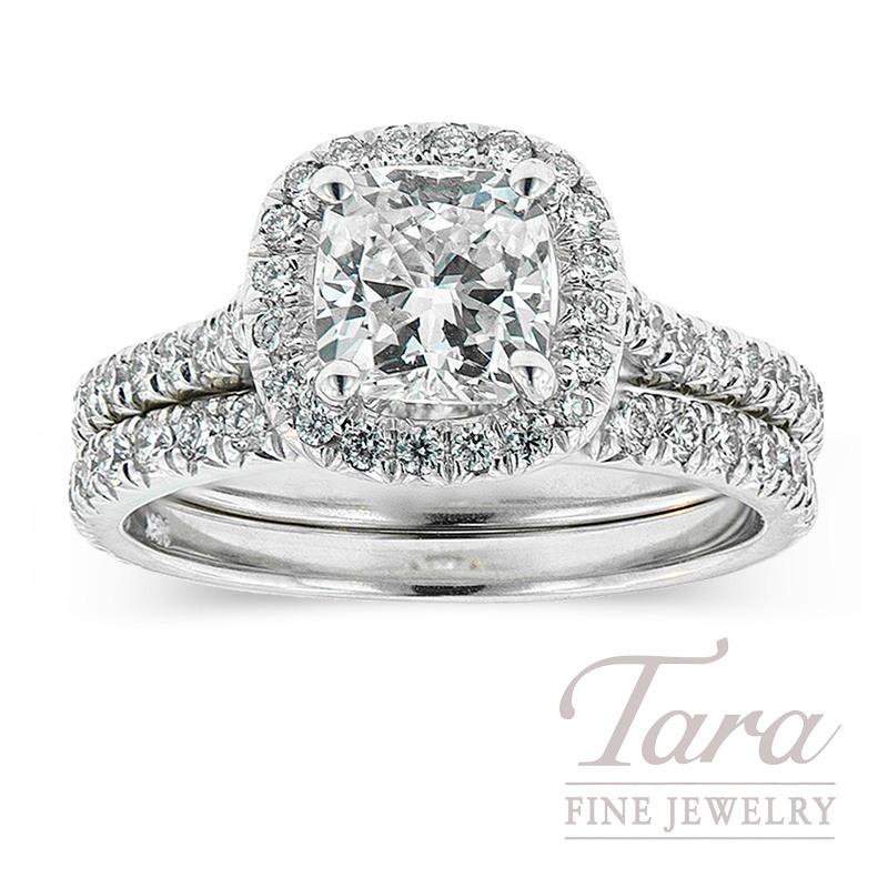 Diamond Wedding Set in 18K White Gold .66TDW (Center Stone Sold Separately)