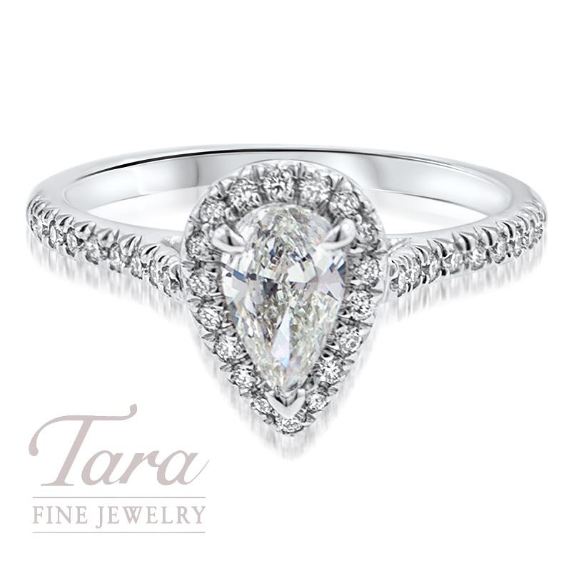 Diamond Engagement Ring in 18K White Gold .25TDW (Center Stone Sold Separately)