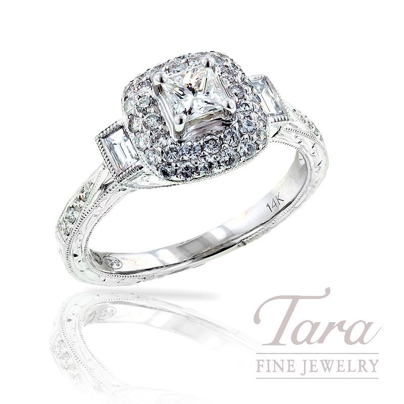 Diamond Engagement Ring in 14K White Gold, .55 TDW