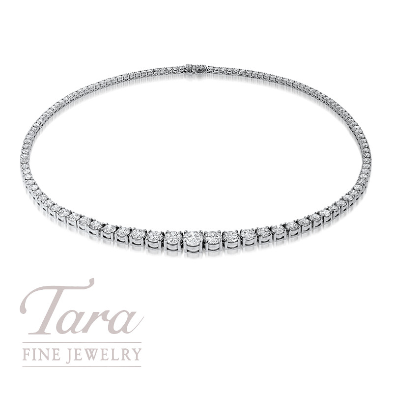 Diamond Necklace in 18K White Gold (Click For Available Sizes!)