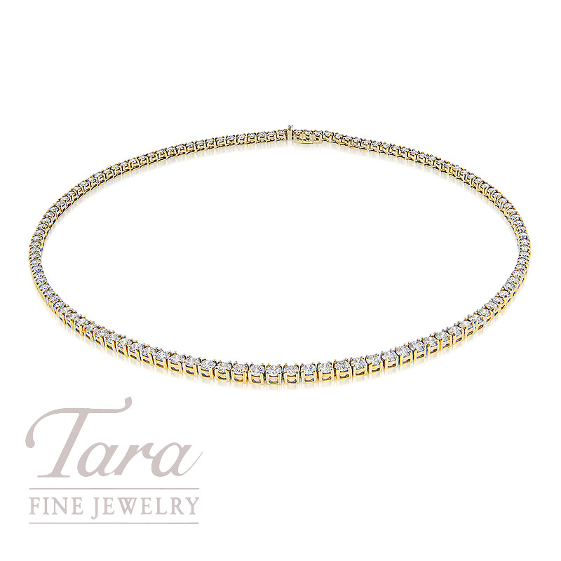 Diamond Necklace in 18K Yellow Gold 12.68TDW