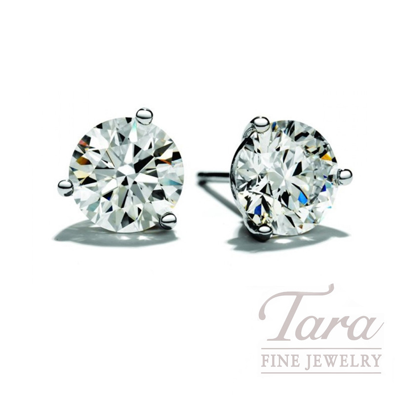Diamond Stud Earrings in 14K White Gold (Click for Availability!)