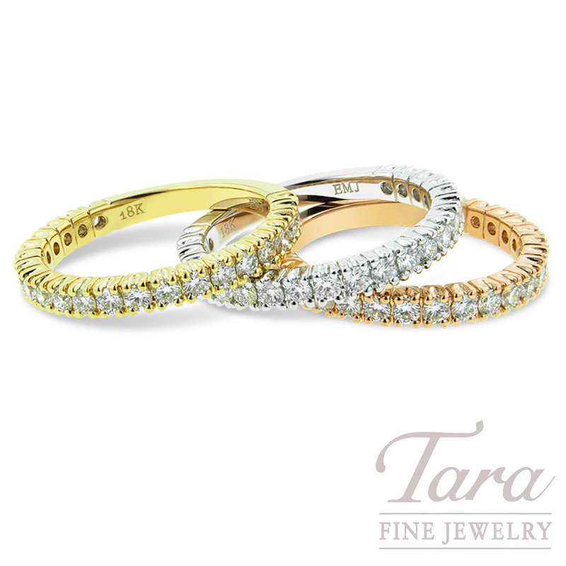 Diamond Wedding Band In 18k Yellow  White  Or Rose Gold .69 TDW 3.3G 22 Round Diamonds
