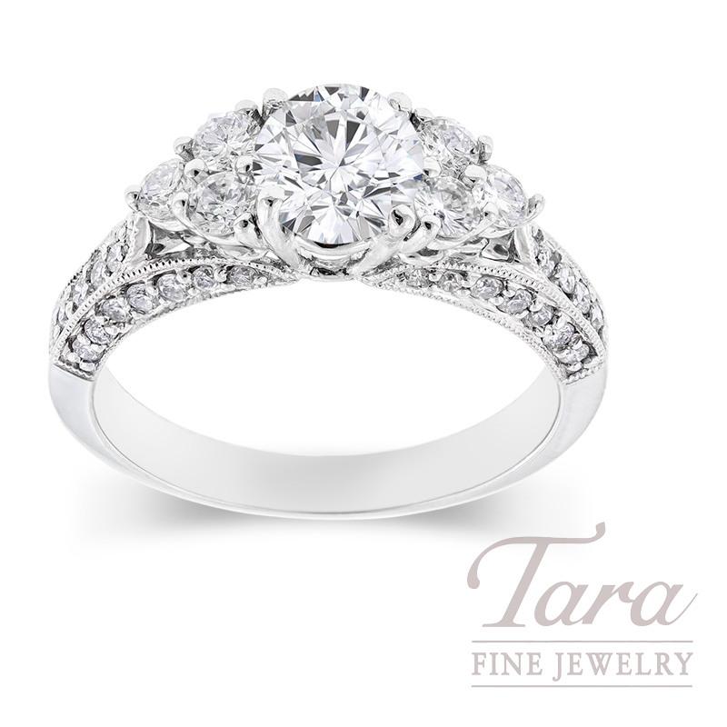 Diamond Engagement Ring  .65 tdw  in 18K White Gold