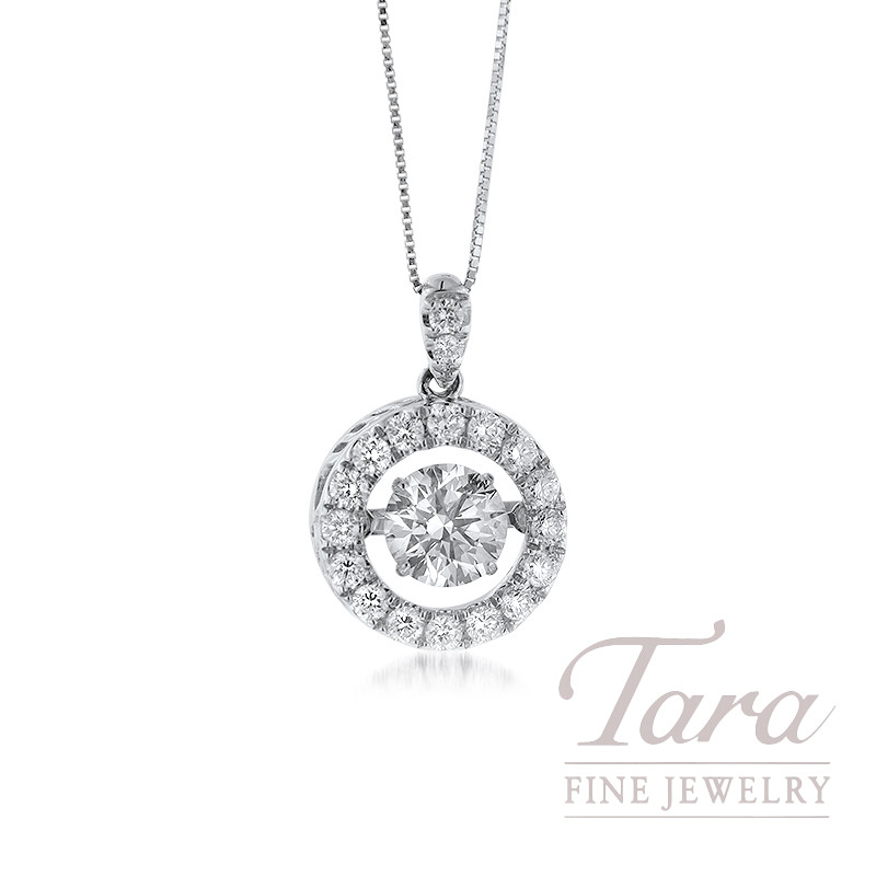 Forevermark 18K White Gold Pendant, 1.01CT Diamond, .49TDW