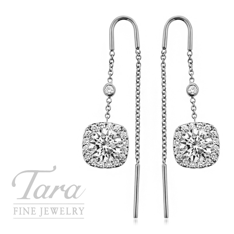 Forevermark Threader Earrings in 18K White Gold