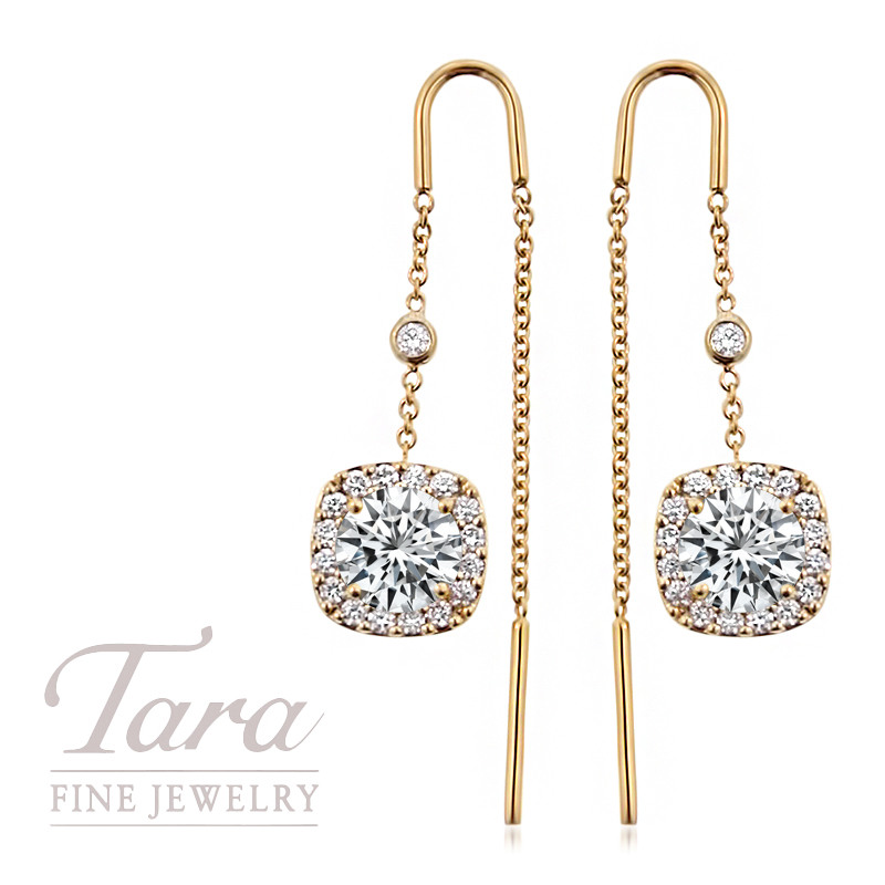 Forevermark Threader Earrings in 18K Yellow Gold