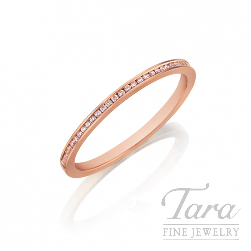 Henri Daussi 14K Rose Gold Diamond Band, .10TDW
