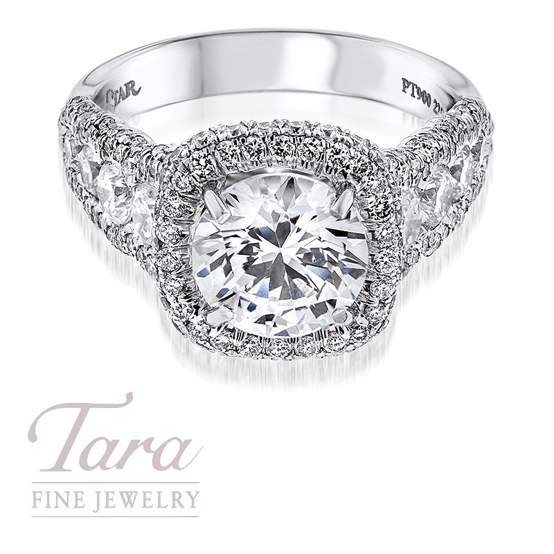 J. B. Star Diamond Ring in Platinum 1.85TDW (Center Stone Sold Separately)