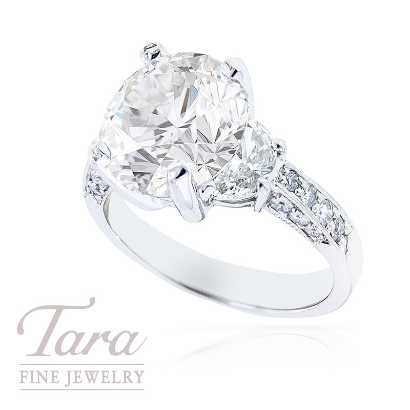 Diamond Engagement Ring by J.B. Star in Platinum, 1.10 TDW (Center stone sold separately)