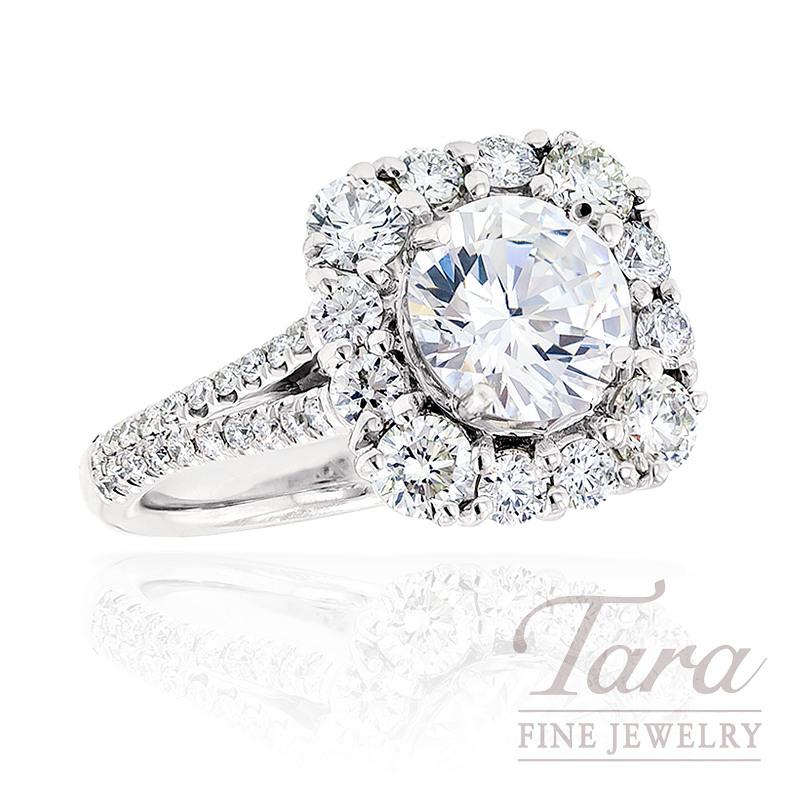 J.B. Star Diamond Engagement Ring in Platinum, 1.16 ctw (Center stone sold separately)