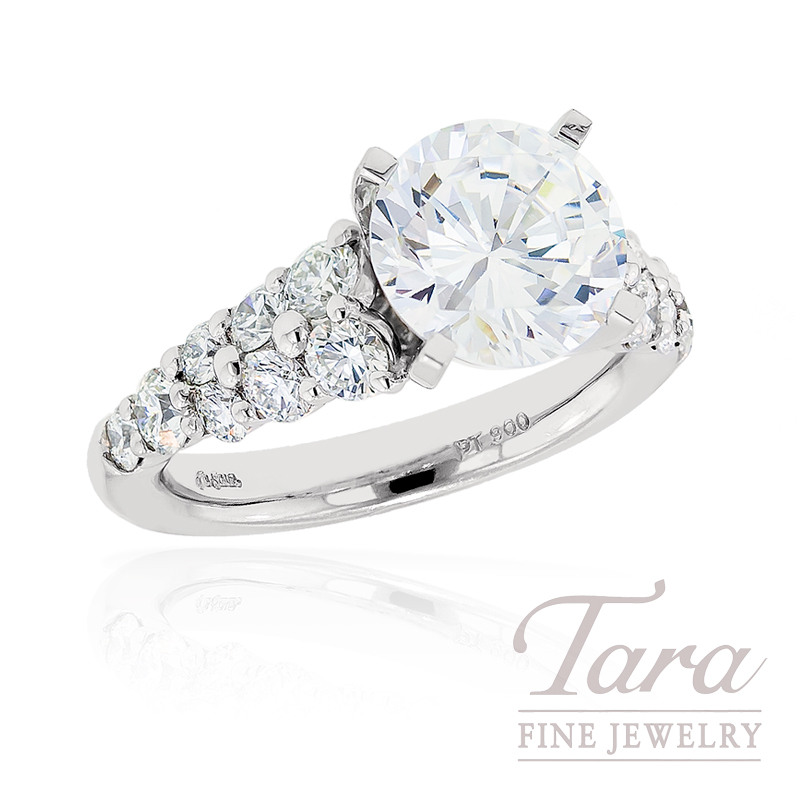 J.B. Star Diamond Engagement Ring in Platinum, 1.14 ctw (Center stone sold separately)