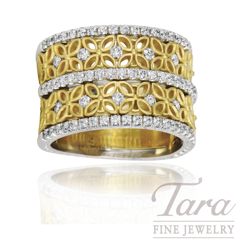 Jack Kelege 18k Yellow Gold Diamond Band, 1.0TDW