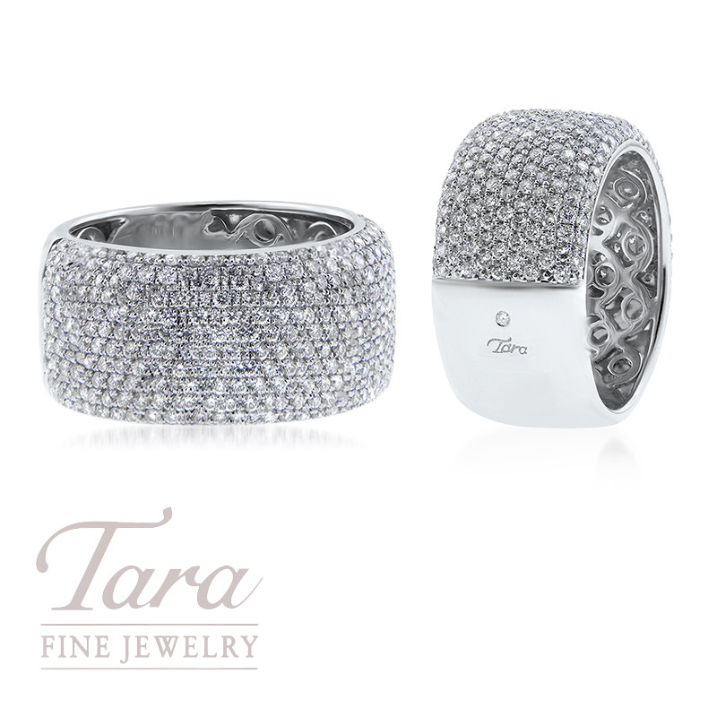Ladies Diamond Band in 18K White Gold 1.83TDW