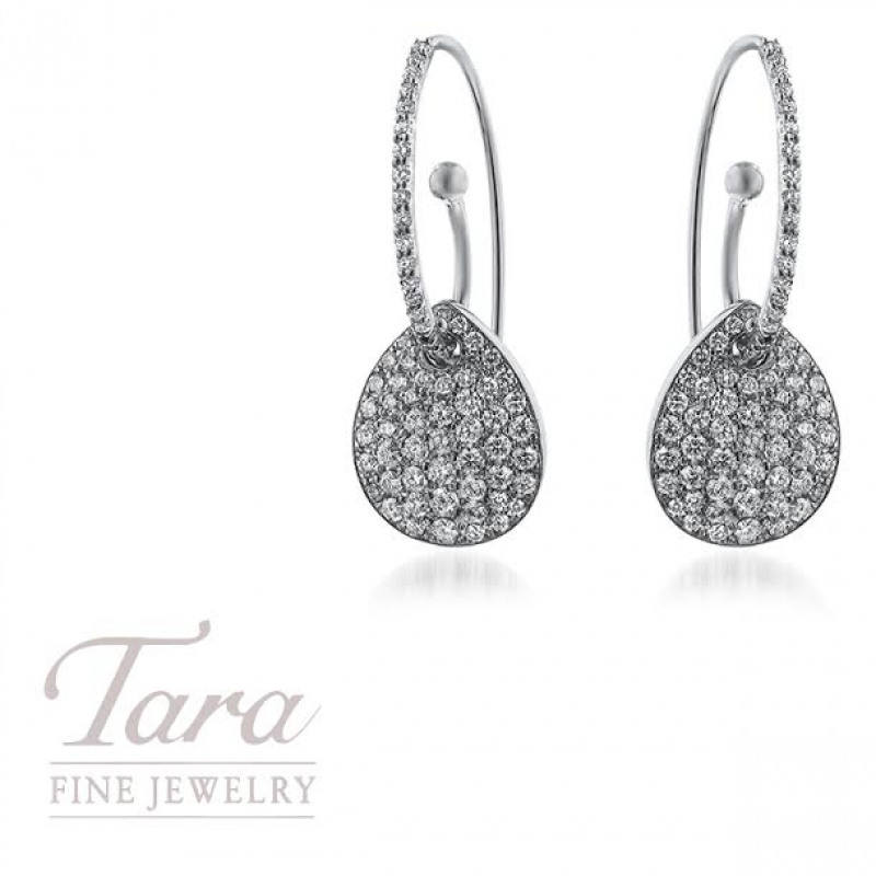 Norman Covan 18K White Gold Earrings 1.83TDW