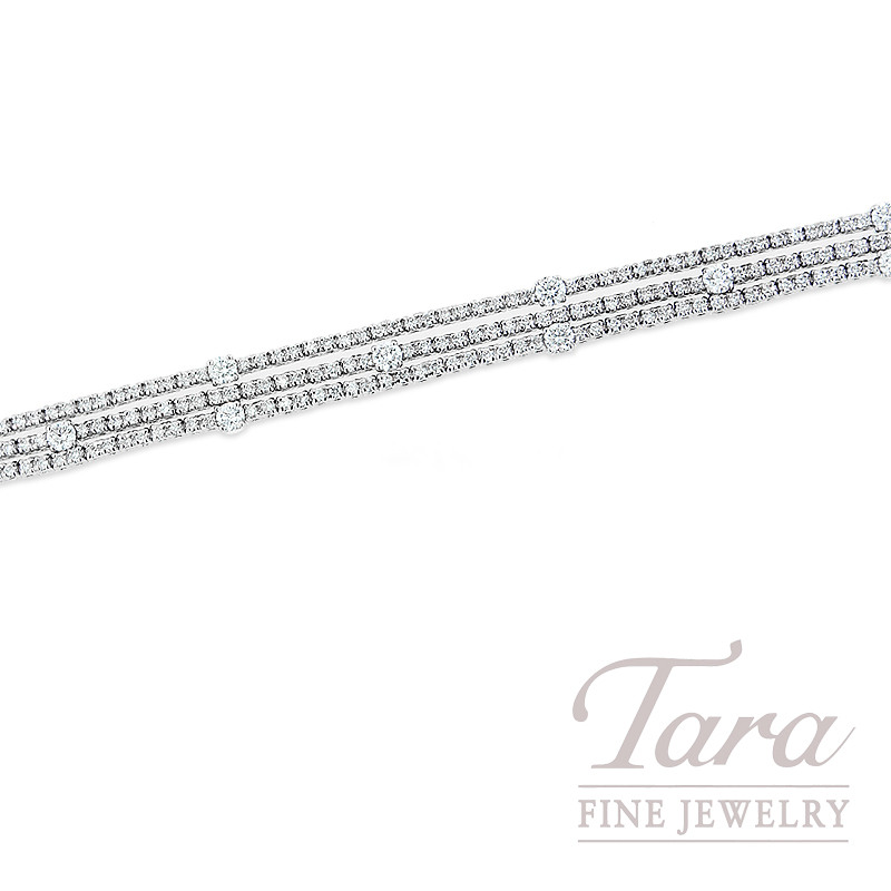 Norman Covan Diamond Bracelet in 18K White Gold 2.62TDW