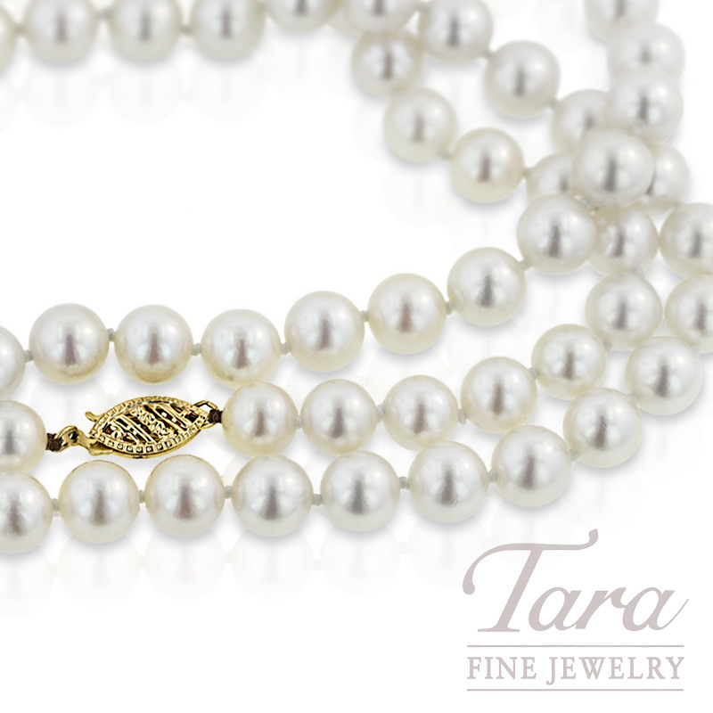 Pearl Strand with Yellow Gold Clasp - Click for Available Sizes and Lengths!