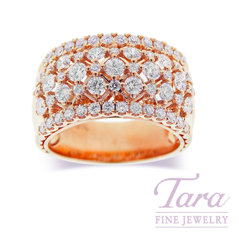 Diamond Ring in 18K Rose Gold 1.66TDW