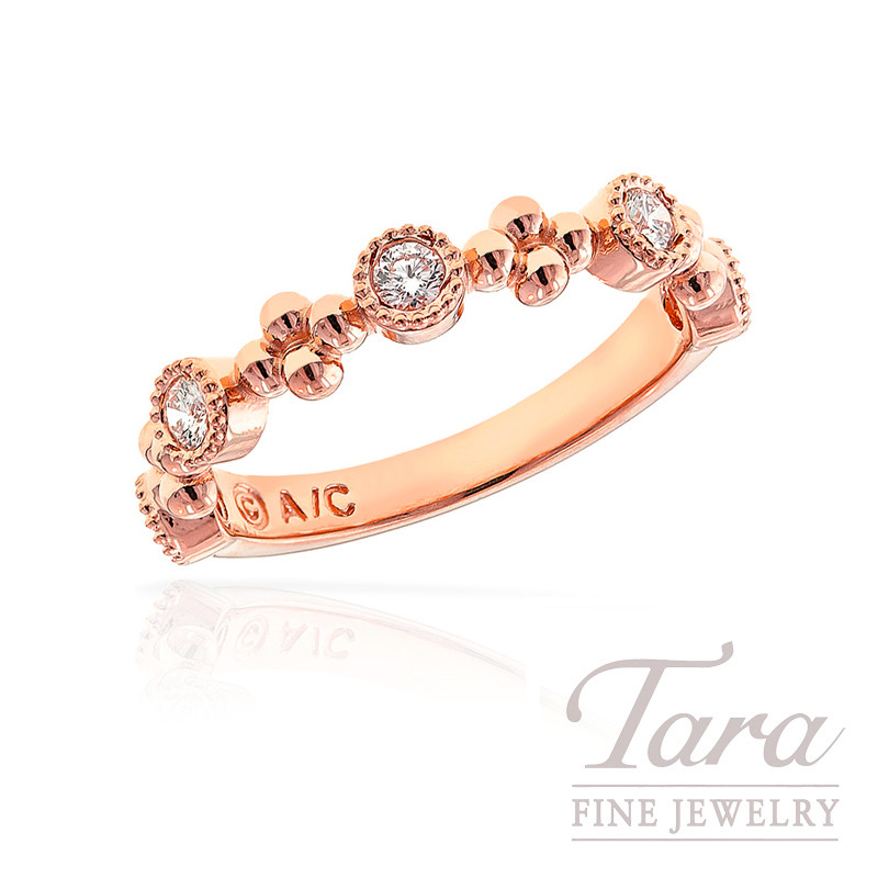 Diamond Band in 18k Rose Gold, .30tdw