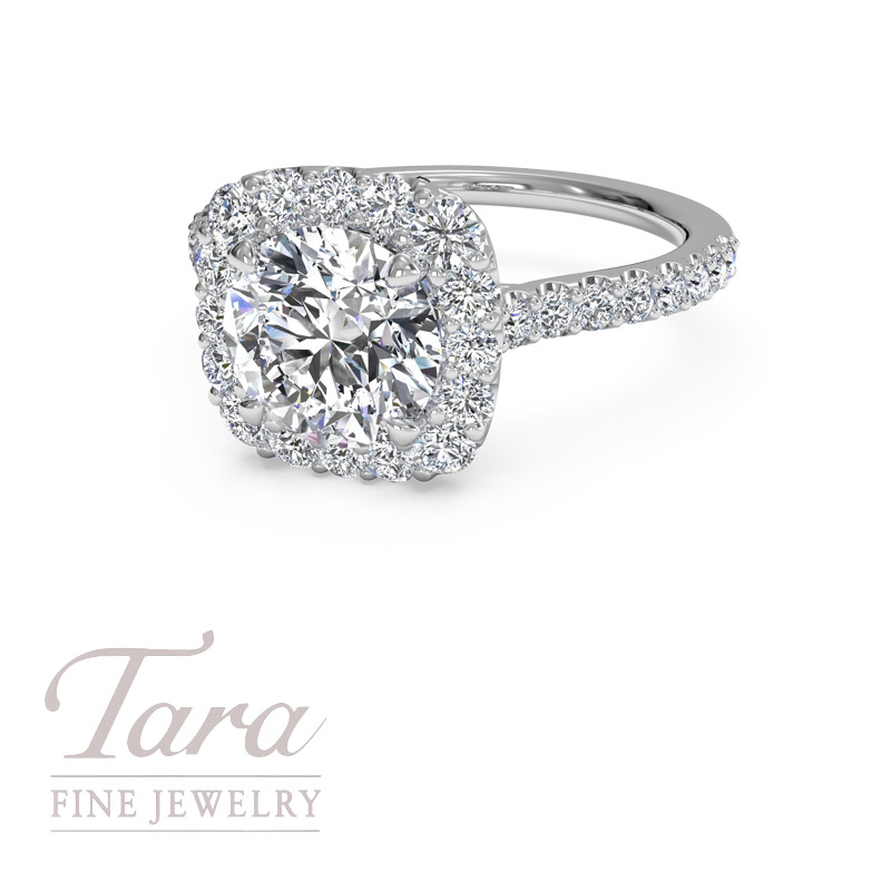 Ritani 18K White Gold Engagement Ring .47TDW (Center Stone Sold Separately)