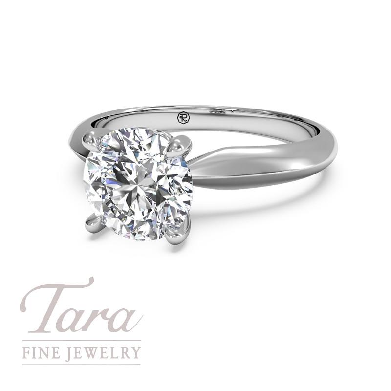 Ritani Diamond Engagement Ring in 18K White Gold .04TDW (Center Stone Sold Separately)