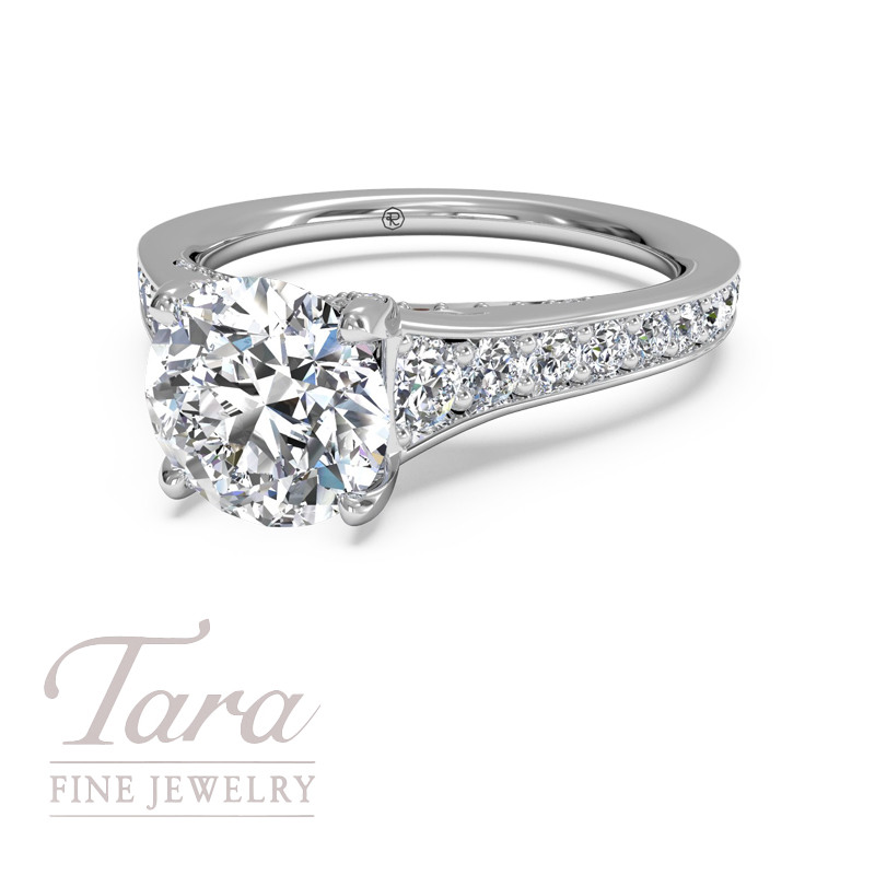 Ritani Diamond Engagement Ring in 18K White Gold .50TDW (Center Stone Sold Separately)