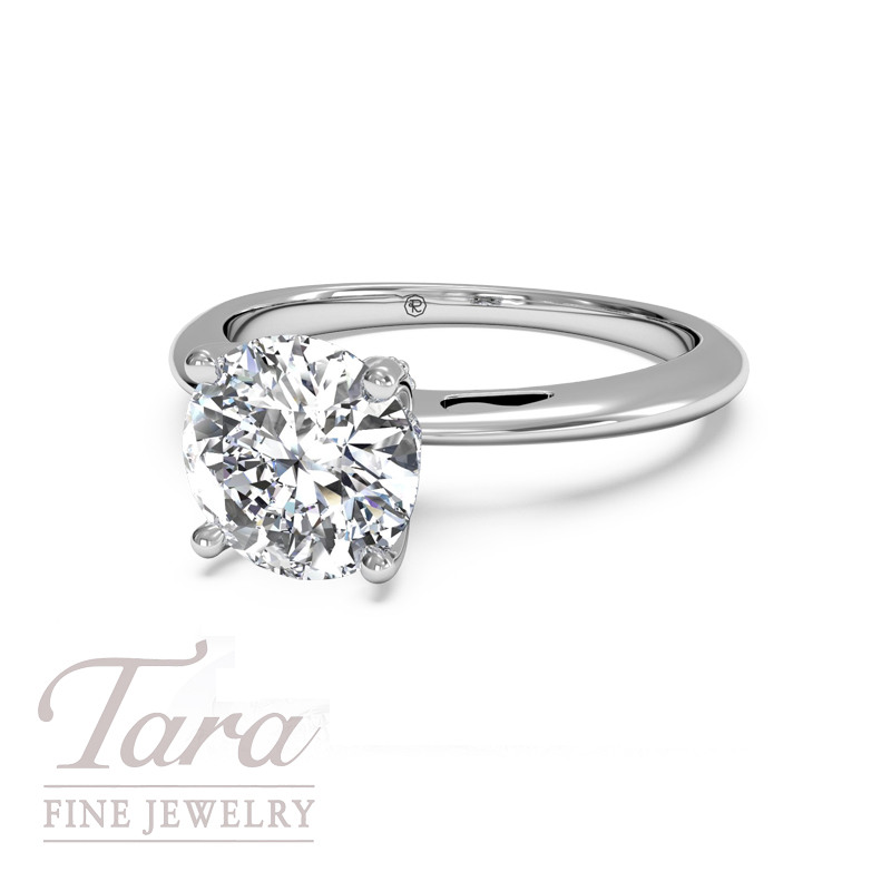 Ritani Diamond Engagement Ring in 18K White Gold .19TDW (Center Stone Sold Separately)