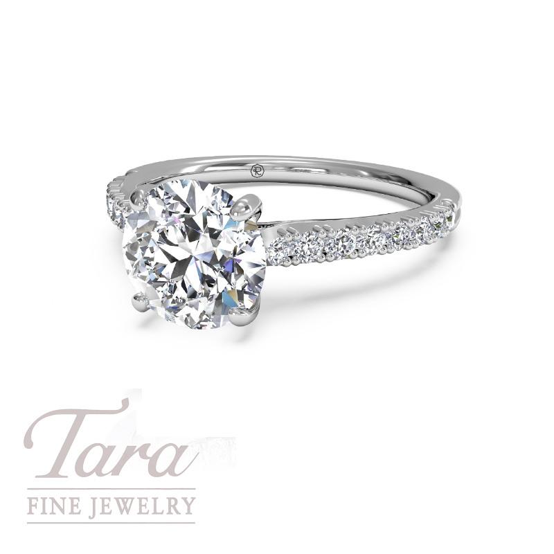 Ritani Diamond Engagement Ring in 18K White Gold .24TDW (Center Stone Sold Separately)