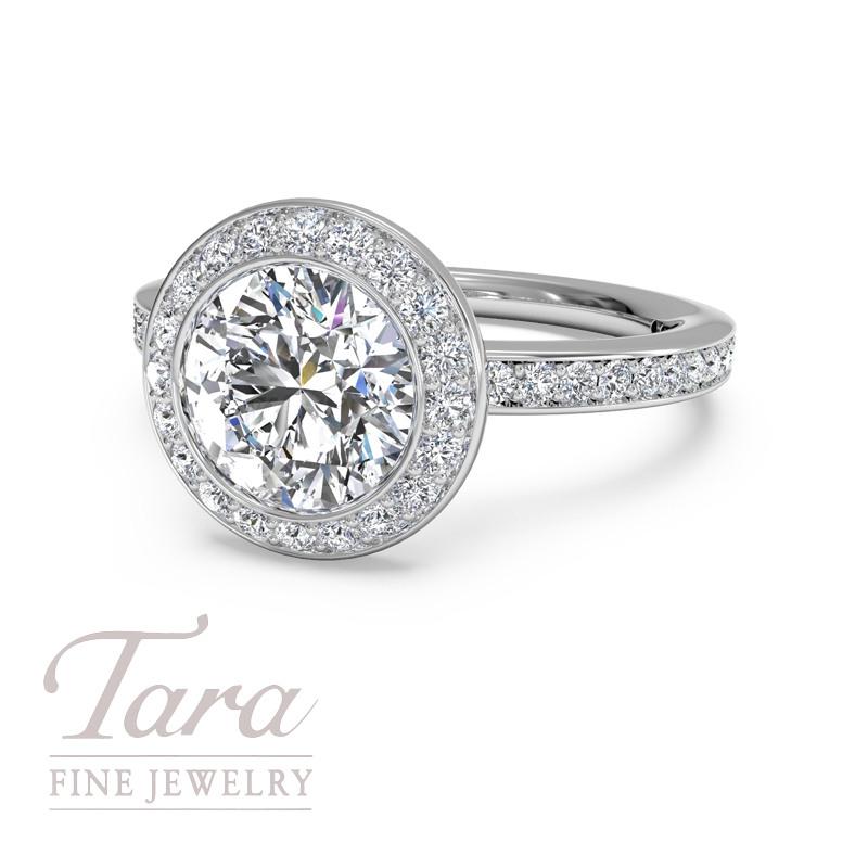 Ritani Diamond Engagement Ring in 18K White Gold .30TDW (Center Stone Sold Separately)
