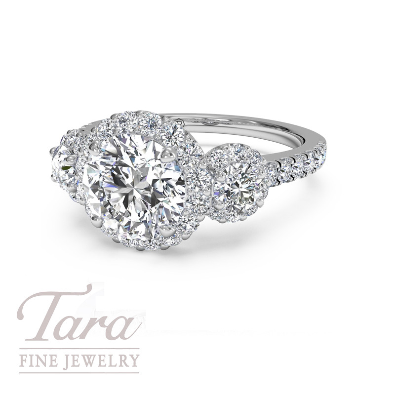 Ritani Diamond Engagement Ring in 18K White Gold .69TDW (Center Stone Sold Separately)