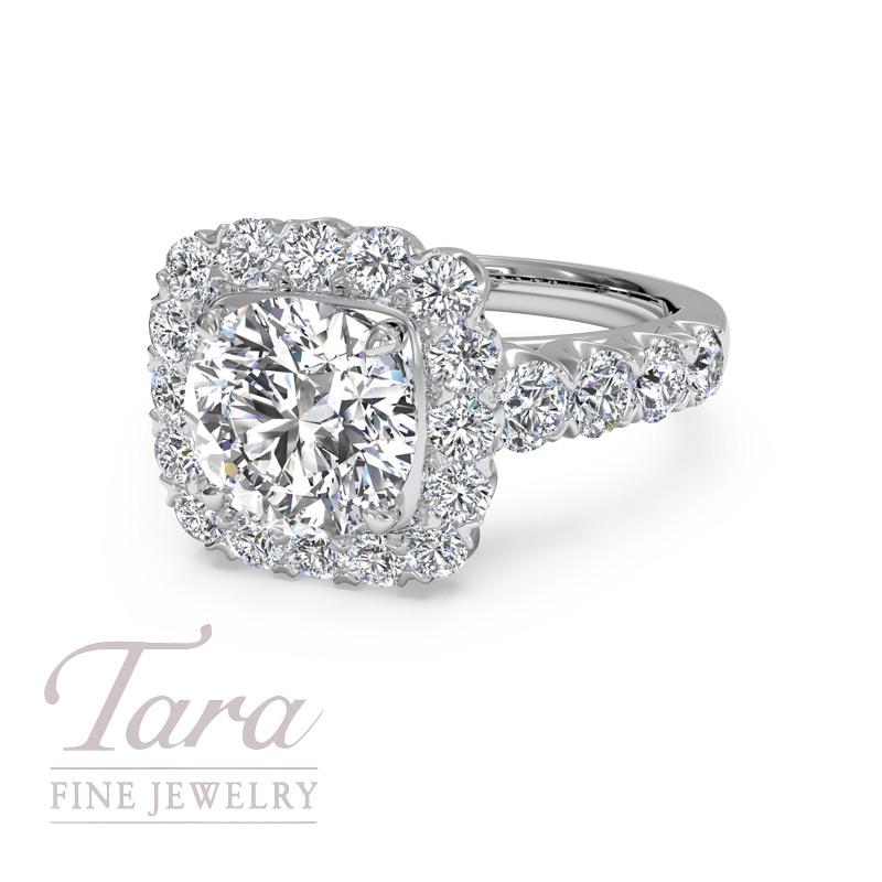 Ritani Diamond Engagement Ring in 18K White Gold .86TDW (Center Stone Sold Separately)